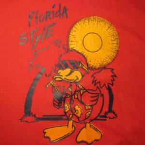 Vintage 1980's t-shirt, Florida Style iron-on, L
