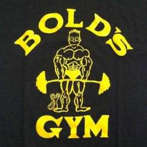 Vintage bootleg Bart Simpson Gold's Gym t-shirt