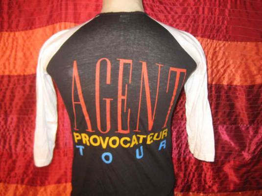 Vintage 1985 Foreigner Agent Provocateur raglan t-shirt