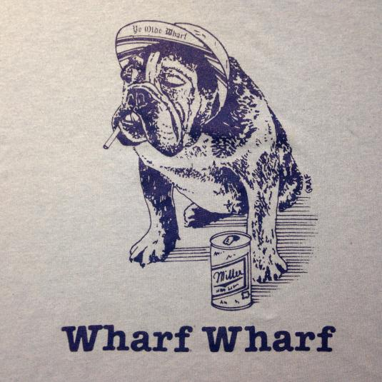 Vintage 1980's summertime party dog drinking beer t-shirt