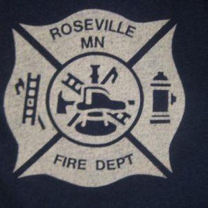 Vintage 1980s Roseville fire department t-shirt Screen Stars