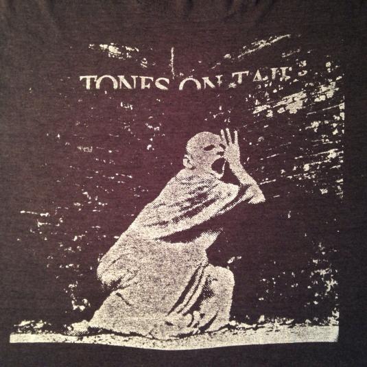 Vintage Rare 80's Tones On Tail post punk goth rock t-shirt