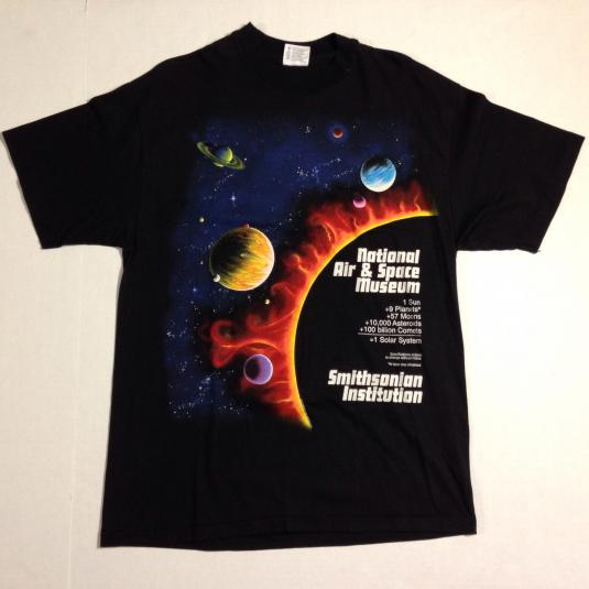 Vintage 1990 Air and Space Museum outer space t-shirt