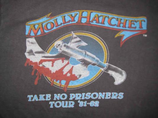Vintage 81-82 Molly Hatchet tour t-shirt