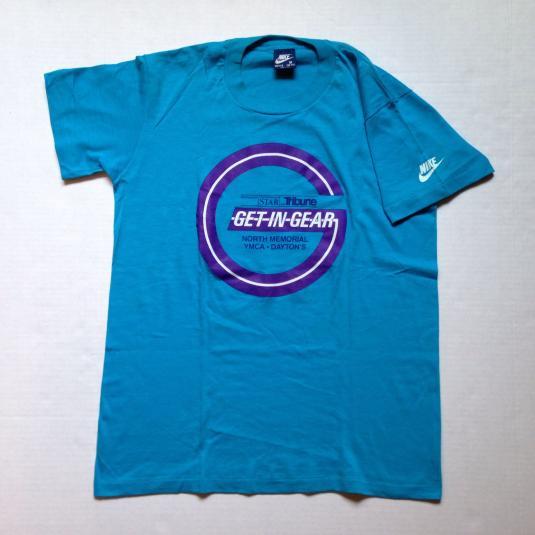 Vintage 1984 Nike Minneapolis Get In Gear marathon t-shirt