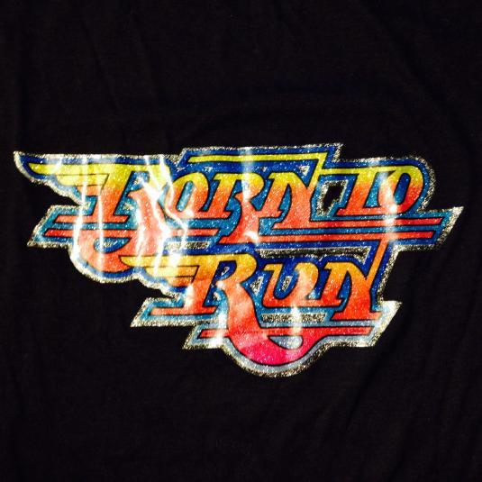 Vintage 1980's Born To Run glittery iron-on t-shirt