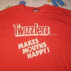 vintage 1980's glow in the dark Twizzlers t-shirt