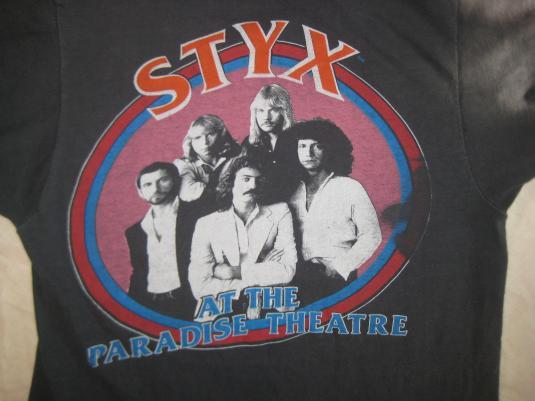 Vintage 1981 Styx at Paradise Theatre t-shirt