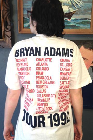 Vintage 1992 Bryan Adams tour t-shirt