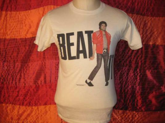 "Vintage 1984 Michael Jackson ""Beat It"" Screen Stars t-shirt"