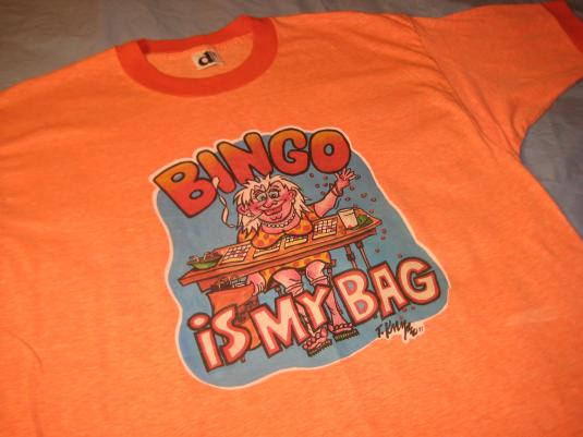 Vintage 1970's bingo lady t-shirt, soft and thin