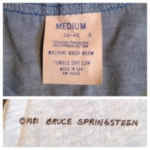 Vintage 1981 Bruce Springsteen Cincinnati concert t-shirt