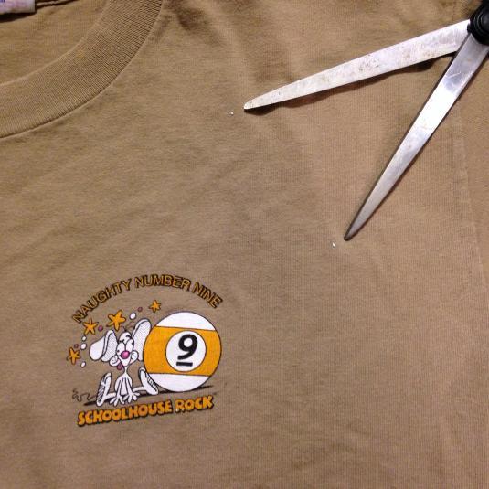 Vintage 1995 School House Rock Naughty Number Nine t-shirt