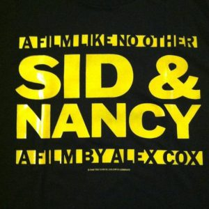 Vintage 1986 Sid and Nancy punk Sex Pistols movie t-shirt