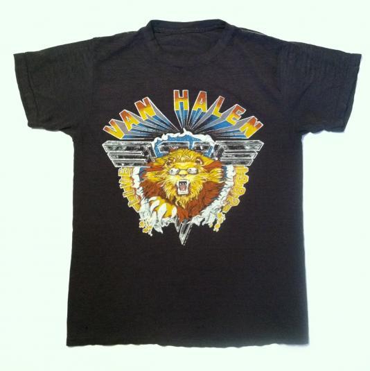 Paper thin vintage 1982 Van Halen Diver Down tour t-shirt