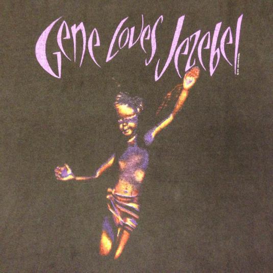 Vintage 1993 Gene Loves Jezebel rock band t-shirt