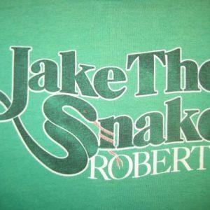 "Vintage 1980's Jake ""The Snake"" Roberts WWF t-shirt, XL"