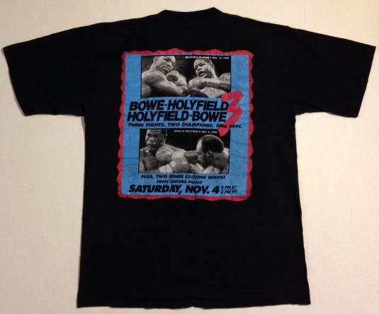 Vintage 1995 Bowe vs Holyfield boxing match t-shirt