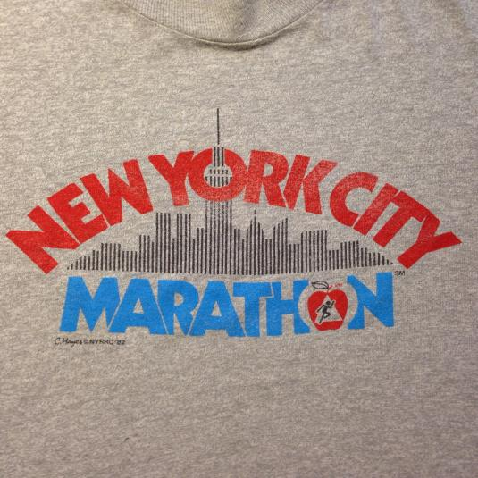 Vintage 1980's New York City Marathon t-shirt