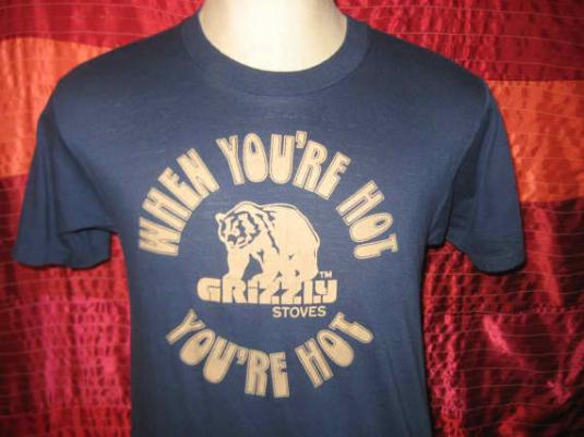 Vintage 1980's hot grizzly bear t-shirt, Screen Stars, M L