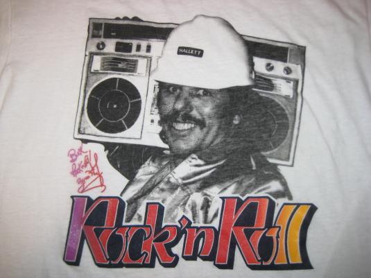 "Vintage 1980s wrestling Buck ""Rock N Roll"" Zumhofe t-shirt"