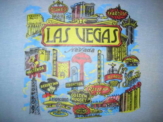 70's Las Vegas iron-on vintage t-shirt, L XL