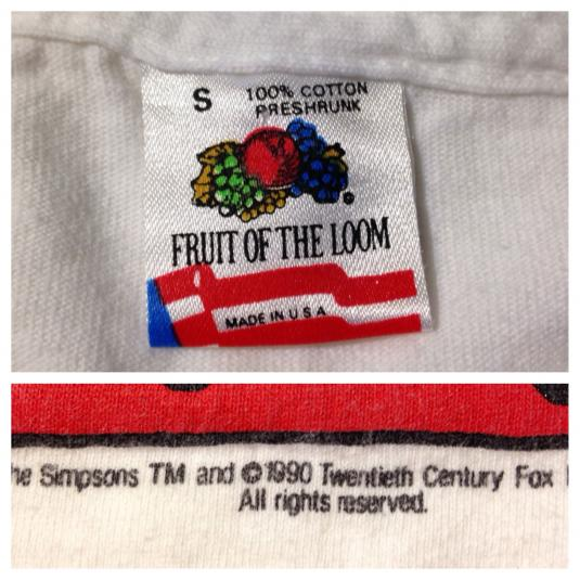 Vintage 1990 The Simpsons Bart Simpson t-shirt