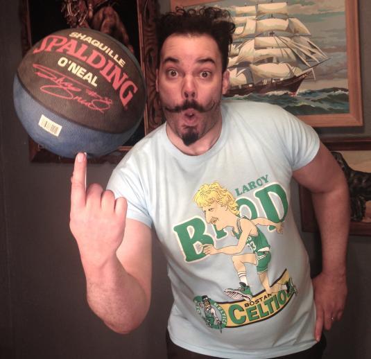 Vintage Crazy Larry Bird bootleg parody t-shirt