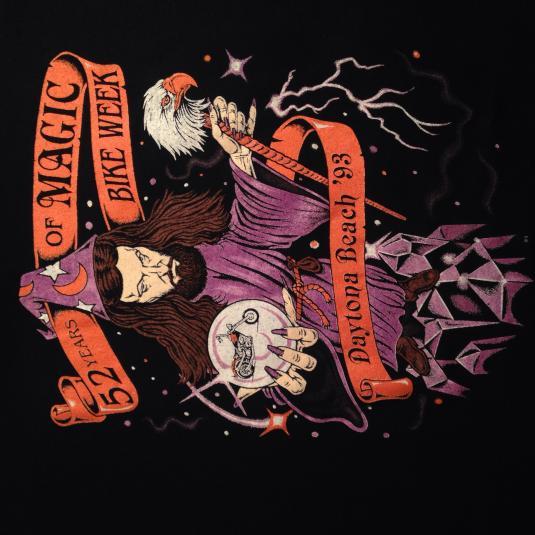 Vintage 1993 Daytona Beach Bike Week wizard t-shirt
