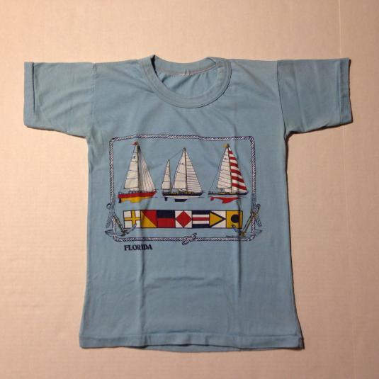 Vintage 1970's-1980's Florida sailing t-shirt