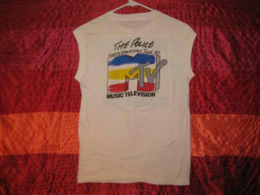 Vintage 1983 The Police MTV sleeveless t-shirt