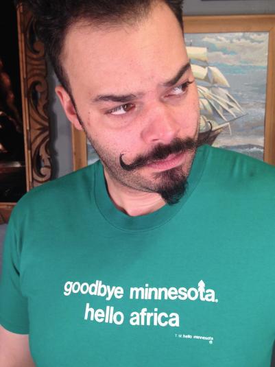 Vintage 1980's Goodbye Minnesota Hello Africa t-shirt