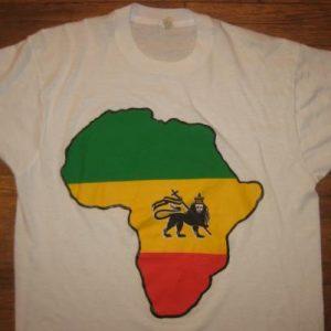 Vintage Rastafarian t-shirt Ethiopia Africa Jamaica Reggae