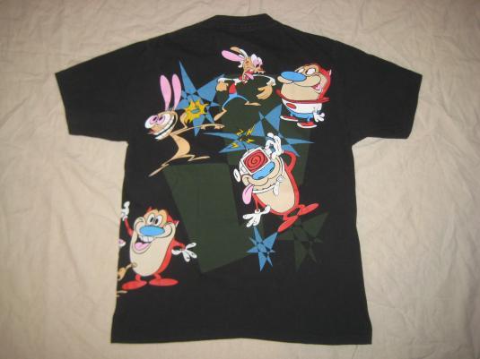 Vintage 1990s Ren and Stimpy t-shirt, L