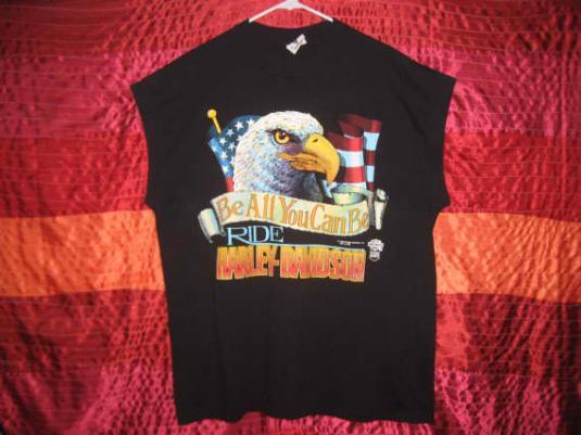 1980's Harley Davidson vintage sleeveless t-shirt, XL