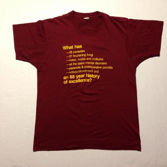 Vintage 1980's medical dictionary t-shirt