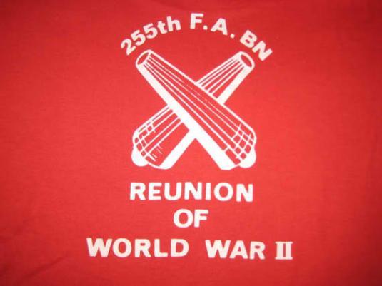 Vintage 1980's WWII reunion t-shirt, Screen Stars, L