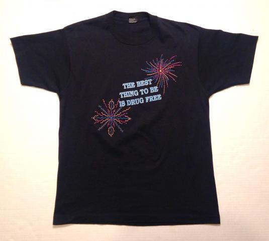 Vintage Drug Free Is The Way To Be t-shirt