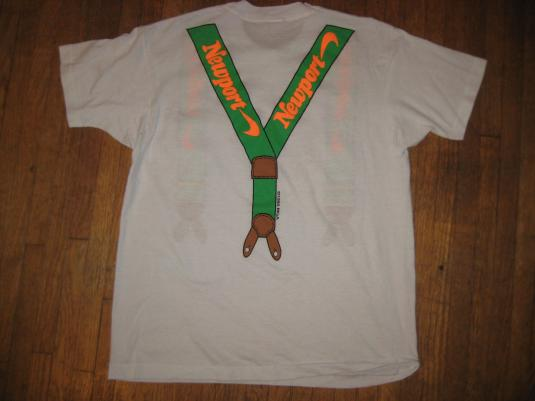 Vintage 1990 Newport suspenders t-shirt, soft and thin