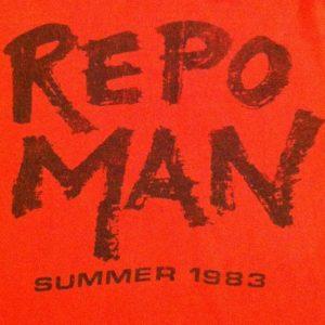 Vintage Repo Man punk rock cult movie crew t-shirt