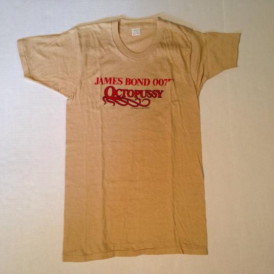 Vintage 1983 James Bond Octopussy movie t-shirt