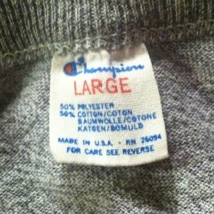 Vintage Champion brand heather grey army t-shirt