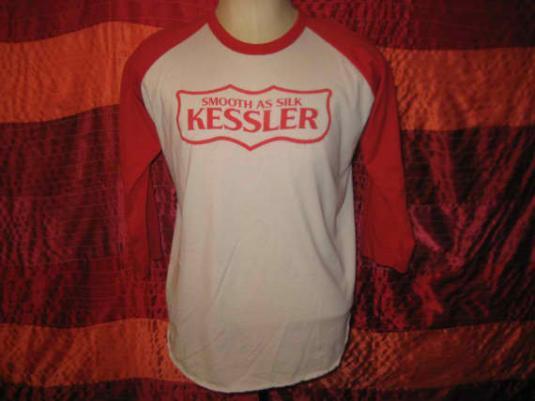 1980's vintage raglan t-shirt, Kessler Whiskey, L XL