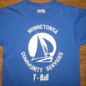 Vintage 1980's Minnetonka T-ball kid's t-shirt, youth medium