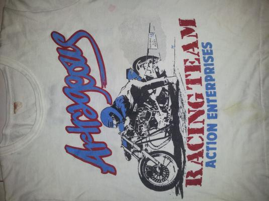 VINTAGE 70S CAFE RACER MOTORCYCLE TSHIRT