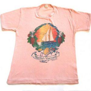 Rare 70s Vintage Tshirt Marthas Vineyard Super Rare Shirt SM