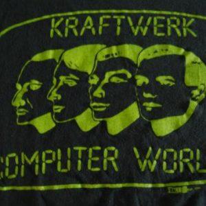 Kraftwerk Tee Computer World 1981 80s Neon TShirt LARGE