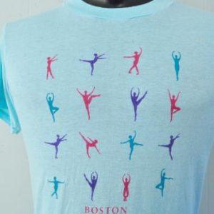 Vintage 80s Burnout Tee Boston Ballet Dancing Dancers Tshirt
