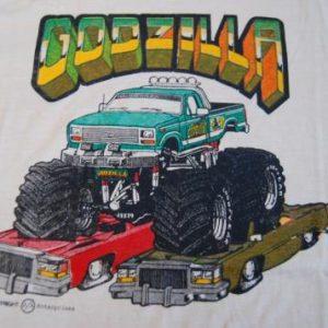 Vintage TShirt Super Rare Godzilla Monster Truck 80s Unworn