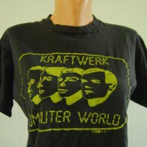 Vintage Kraftwerk TShirt Computer World Neon TShirt LARGE